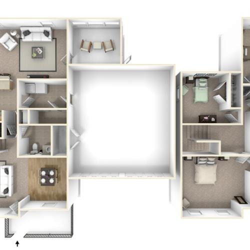 Stewart Terrace Singleton 3D Floor Plan