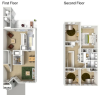 4 Bedroom Townhome Floor Plan | hickam housing floor plans | Hickam Communities