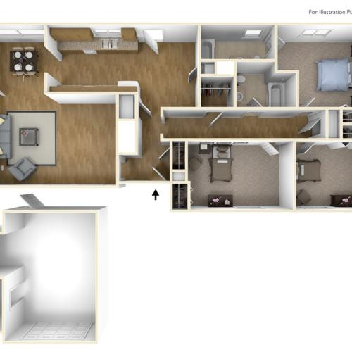 Laurel Bay Florence Floor Plan