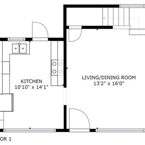 Heliconia Floor Plan - 1st Floor