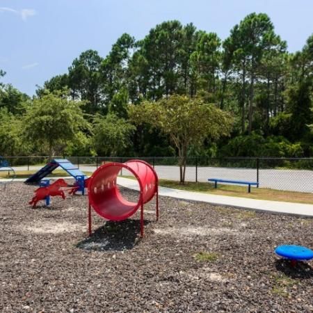 Cabana West Apartments: playground with several different climbing features and toys
