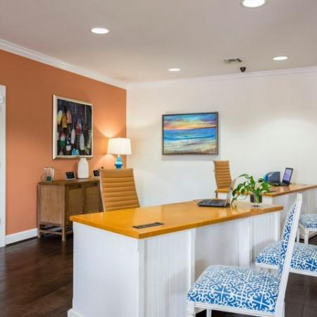 Cabana West Apartments: main desk with chairs