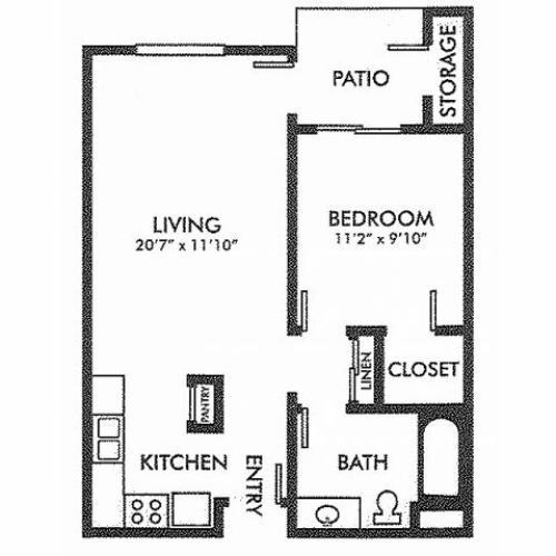 2 Bed 1 Bath Apartment In La Mirada Ca Somerset Glen