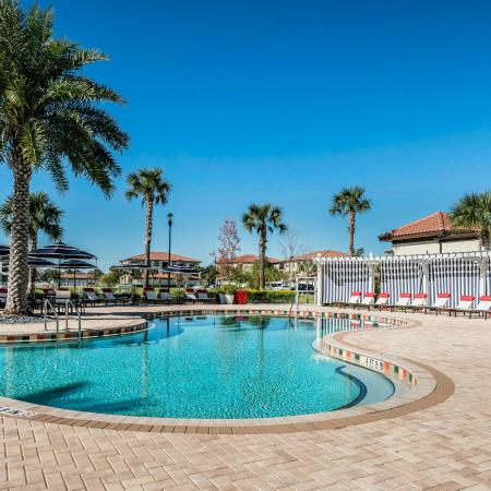 Citra at Windermere Exterior | Outdoor pool | Palm trees | Pool chairs