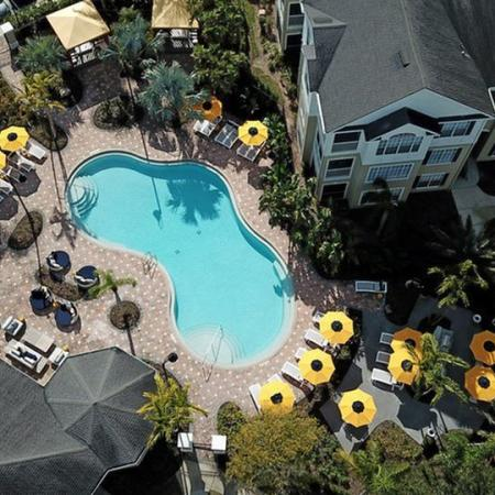 Grandeville at River Place Exterior | Skyview | Outdoor pool | Residential buildings