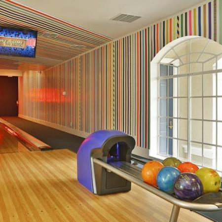 Grandeville at River Place Interior | Bowling lane | Window
