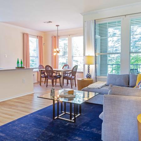 Living And Dining Area At Jefferson at Westtown