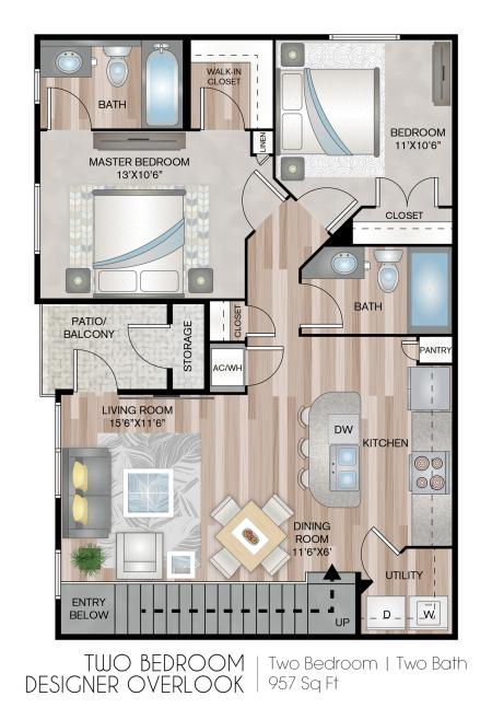 Two Bedroom Designer with Garage