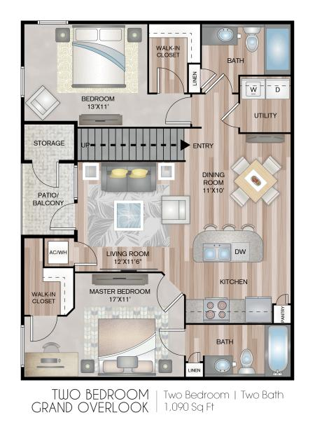 Two Bedroom Grand With Garage