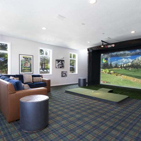 Apartments in Tewksbury Golf Simulator - Residences at Tewksbury
