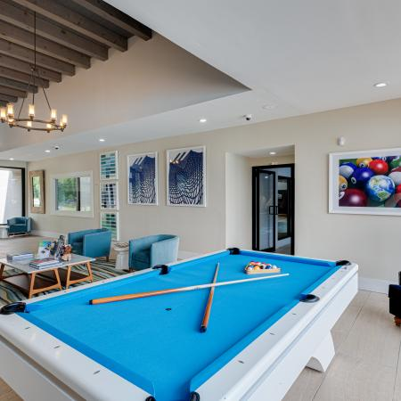Apartment Game Room With Pool Table