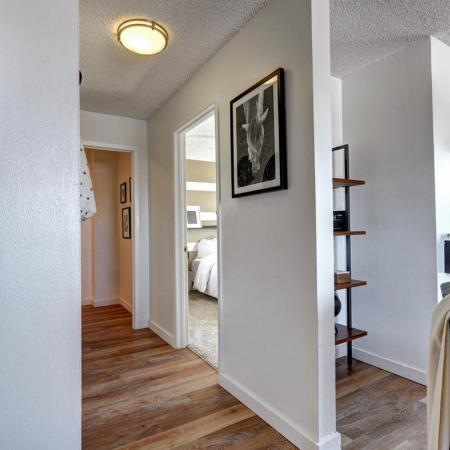 Golden Apartment Bedroom Hallway - The Summit at Red Rocks