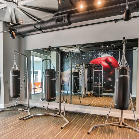 Apartment Gym Boxing Area