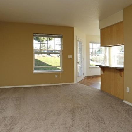 Large living room and dining area