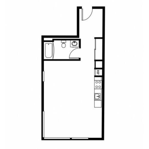 Studio/ 1 Bath Apartment In Portland OR