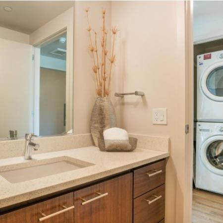 the club, washer and dryer in unit