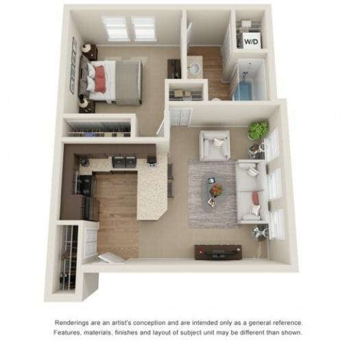 bronze 3d floor plan
