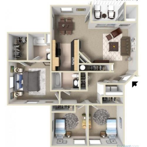 Platinum Plus 3D Floor Plan