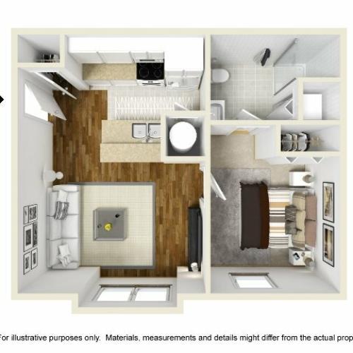 Abbotts Run Apartments - Topsail Floor Plan