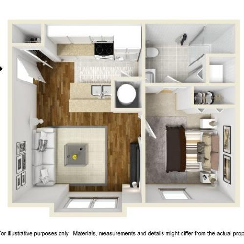 Abbotts Run Apartments - Topsail Floor Plan