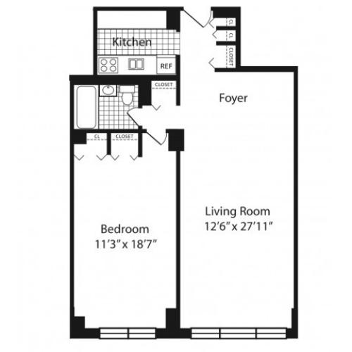H Floorplan Floors 2-10