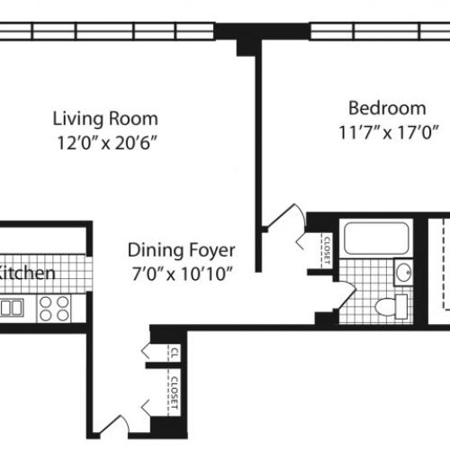 M Floorplan Floors 2-10