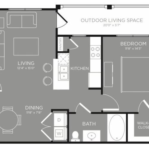 Floor Plan 8 | Conroe Texas Apartments | The Grand Estates in the Forest