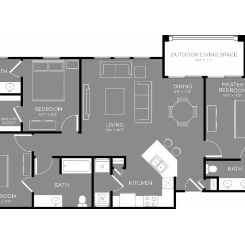 Floor Plan 16 | Luxury Apartments In Conroe TX | The Grand Estates in the Forest