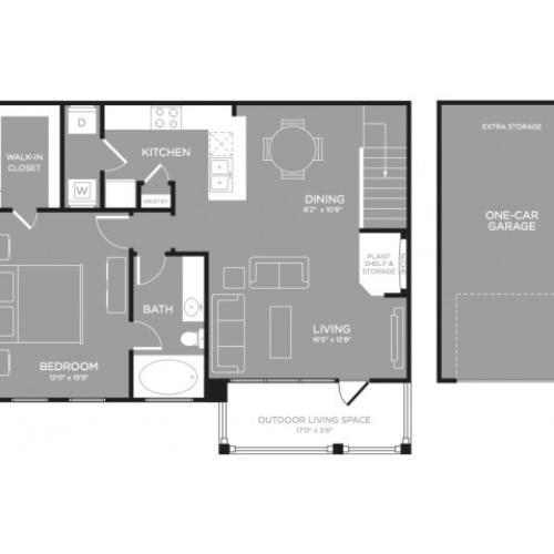 3D Floor Plan 5 | Luxury Apartments In Little Elm TX | The Mansions 3Eighty