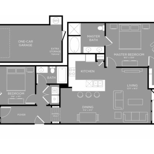 3D Floor Plan 8 | Frisco Apartments | The Mansions 3Eighty