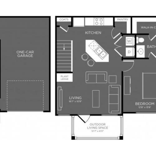 3D Floor Plan 2 | Conroe Apts | The Mansions Woodland