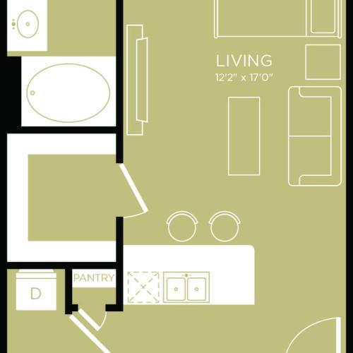 Floor Plan 1 | Apartments Wylie | The Mansions at Wylie