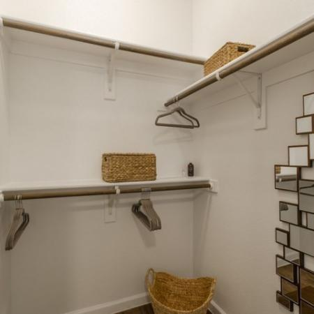 Open Closet | Conroe Apartments | The Grand Estates in the Forest