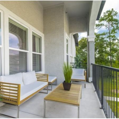 Spacious Porch Area | Apartments Conroe TX | The Mansions Woodland