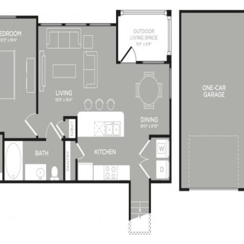 3D Floor Plan 6 | Apartments In Austin TX | The Mansions at Lakeway