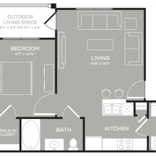 3D Floor Plan 1 | Apartments Austin | The Mansions at Lakeway