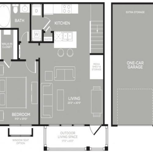 3D Floor Plan 4   Luxury Apartments In Austin Texas   The Mansions at Lakeway