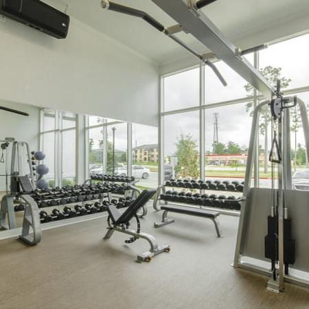 Cutting Edge Fitness Center | Apartments For Rent Conroe TX | The Towers Woodland