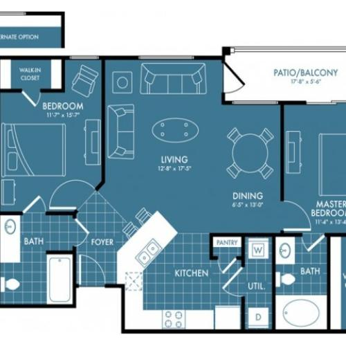 Floor Plan 3 | Apartments Near Magnolia TX | The Estates Woodland