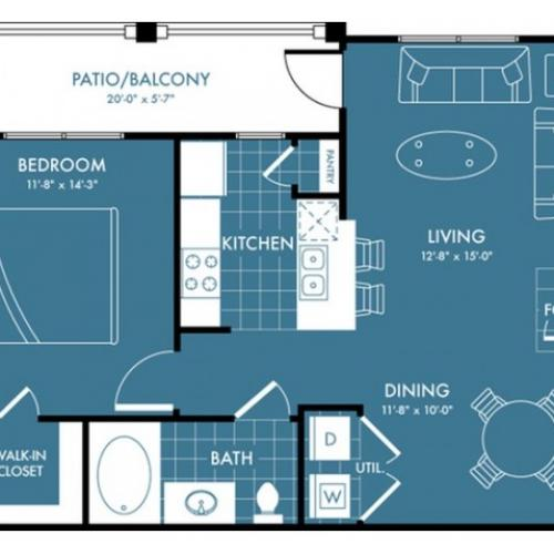 Floor Plan 2 | Apartments Magnolia| The Estates Woodland