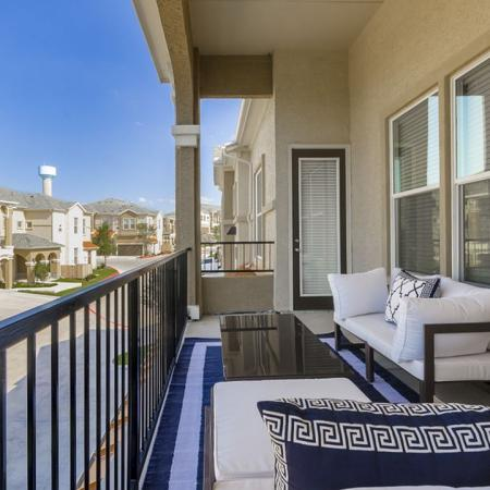 Spacious Porch Area | Apartments Austin | The Mansions at Lakeway