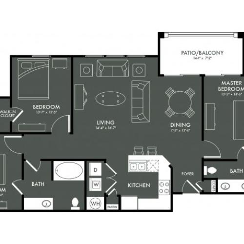 Floor Plan 8 | Apartments For Rent In Magnolia TX | The Grand Estates Woodland