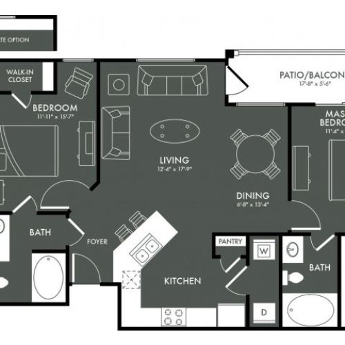 Floor Plan 4 | Magnolia Apartments | The Grand Estates Woodland