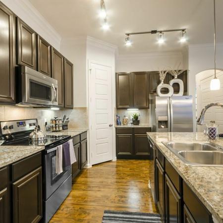 Modern Kitchen | Luxury Apartments In Aubrey TX | The Mansions 3Eighty