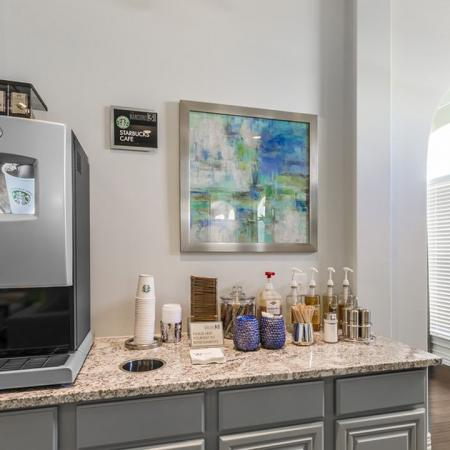 Resident Coffee Bar | Apartments In Little Elm TX | The Mansions 3Eighty