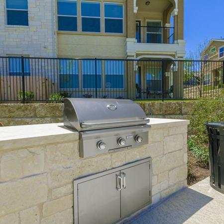Community BBQ Grills | 2 Bedroom Apartments Austin | The Mansions at Lakeway