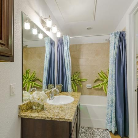 Ornate Bathroom | Luxury Apartments In Wylie TX | The Mansions at Wylie01