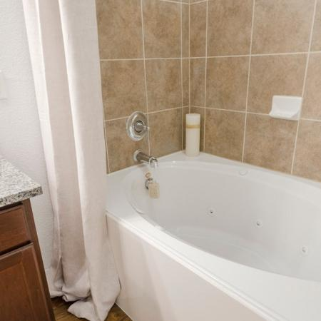 Residents in the Bathroom | Conroe Apartments | The Grand Estates in the Forest