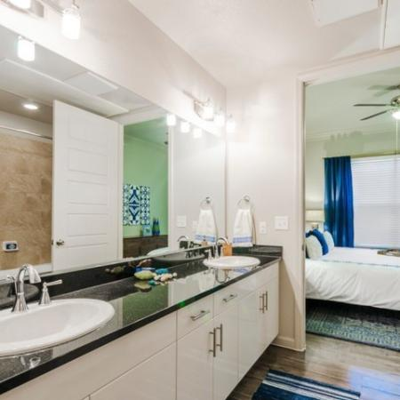 Residents in the Bathroom | Apartments In McKinney TX | The Mansions McKinney