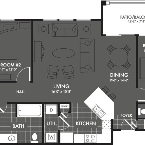 3 Bedroom Floor Plan | Apartments In San Antonio TX | The Estates at Briggs Ranch